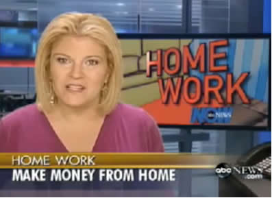 work from home video Tory Johnson